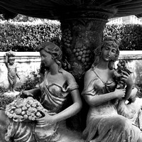 Wine Goddesses Fountain Detail
